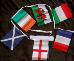 Rugby 6 Nations rectangular 7 metre bunting